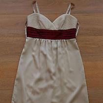Nice Bcbg Maxazria Womens Size S Small Dress Champagne Maroon Photo
