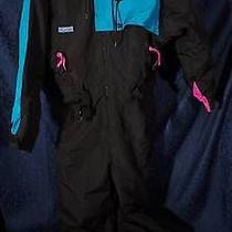 Nice Black Turquoise Pink Columbia Radial Sleeve Ski Snowboard Snowsuit Sz L Photo