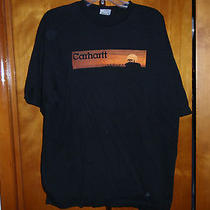 Nice Carhartt Xl Shirt Black Name on Front Tractor Back Name Photo