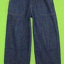 Nice Dkny Sz 4 Womens Blue Jeans Denim Pants Capris Ek13 Photo