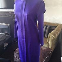 Nice Dress From Valentino Violet Wool Fabricsize M 6 (Us) Photo