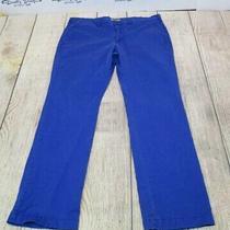 Nice Express Photographer Cobalt Blue Chino Khaki Flat Front Pants Men's 36 X 32 Photo