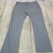 Nice Express Slim Fit Finn Grey Khaki Chino Flat Front Pants Men's 36 X 32 Photo
