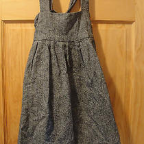Nice Gray Roxy Jumper Overall Dress Cotton Girls Large 10 Photo