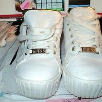 Nice Guess Laced Women's Wglanneyr Low-Top Sneakers White Size 8.5m Pre Owned  Photo