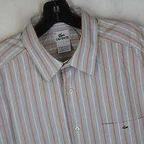 Nice Lacoste Button Down Dress Shirt Size 42 Tan 151 Photo