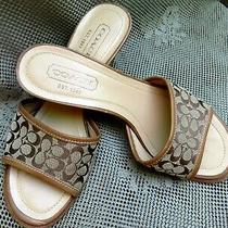 Nice Ladies Sandal by Coach Brown 6.5 -3