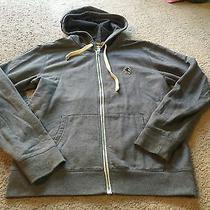 Nice Men's Size M Medium Express Brand Gray Sweatshirt Jacket Hoodie  Photo