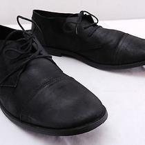 Nice Mens 42 9 Aldo Black Leather Casual Dress Cap Toe Oxfords Shoes Photo