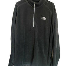 Nice North Face Pull Over Zipper Neck Black Waffle Jacket Mens Size Xxl 2x Photo