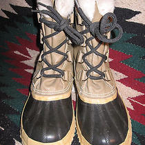 Nice Pre-Owned Womens Sorel Manitou Leather Waterproof Insulated Sno-Pac Size 7 Photo