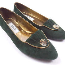 Nice Rare - Green Gold Bally Suede - Flats - Myra Sz 7.5 M in Box Italy Wedges Photo