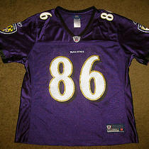 Nice Reebok Womens Baltimore Ravens Todd Heap Purple Football Nfl Jersey Large L Photo