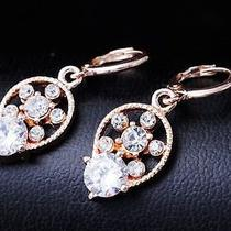 Nice Shine Design Gem Rose Gold Filled C.z Women Lady Earrings Jewelry Cz0019 Photo