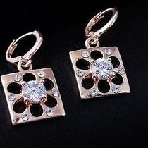 Nice Shine Design Hot Rose Gold Filled C.z Women Lady Earrings Jewelry Cz0057 Photo