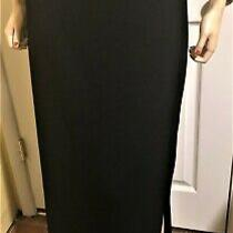 Nice St John Basics Santana Knit Long Black Skirt Size 16  34 X 38  Photo
