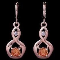 Nice Style Gems Rose Gold Filled C.z Women Lady Earrings Jewelry Cz0122 Photo