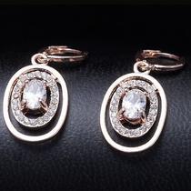 Nice Style Hot Rose Gold Filled C.z Women Lady Dangle Earrings Jewelry Cz0229 Photo