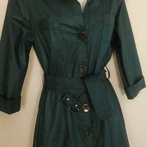 Nice Topshop Dark Green Shirt Dress  Sz 8/10 Photo