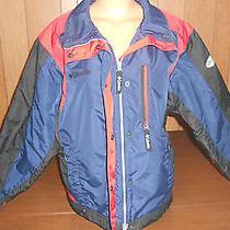 Nice Used Womens Large L Columbia Black Red Blue Winter Coat Jacket  Photo