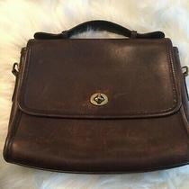 Nice Vintage Brown Leather Coach Purse -Preowned Condition Photo