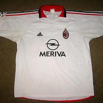 Nice Vtg Adidas Ac Milan Cup Italy Football Club Fc Meriva Soccer Jersey Large Photo