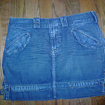 Nice Woman's Blue Jean Skirt by Express Size 2 Photo