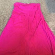 Nice Women's Size 10 Gap Brand Hot Pink Strapless Dress Outfit Pretty Photo