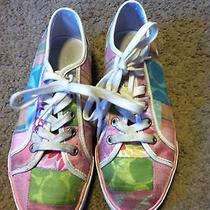 Nice Women's Size 6 Coach Brand Dawnell Patchwork Sneakers Shoes Multi Colored Photo