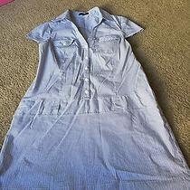 Nice Women's Size M Medium Express Brand Blue White Striped Dress Outfit Photo
