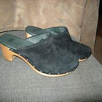 Nice Womens Black Suede Ugg Slide on Mules Shoes Size 8  Photo