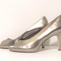 Nice Womens Calvin Klein Size 9 Champagne Blush Peep Toe-Pumps-Heels- Shoes  Photo