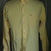 Nice Yellow Lacoste Dress Shirt Sz 17.5 36-37 Photo