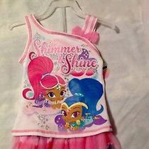 Nickelodeon Shimmer & Shine Toddler Girl's Shirt W/ Tutu Skirt Set Size 2t Nwt Photo