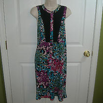 Nicole by Nicole Miller Womens 16 Sleeveless Vivid Colors Summer Dress-Nice Photo