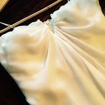 Nicole Miller 100% Silk Sleeveless Wedding Dress Photo