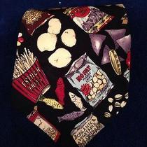 Nicole Miller 1996 100% Silk Snack Tie Junk Food and Healthy Snacks Photo
