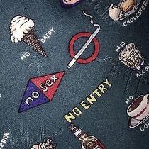 Nicole Miller 1996 No Fat Alchol Dairy Junk Cigars Fur Pork Radio Sex Tie Silk Photo