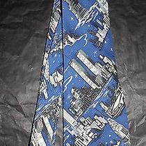 Nicole Miller 2001  New York City  Men's Silk Tie Brooklyn Wtc Empire State  Photo