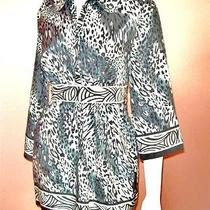 Nicole Miller Baby Doll Border Animal Print Sz 6  Festival Mini Dress Tunic Top Photo