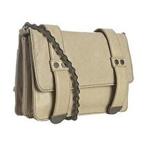 Nicole Miller Beige Stone Leather Addison Bike Chain Crossbody Bag Photo