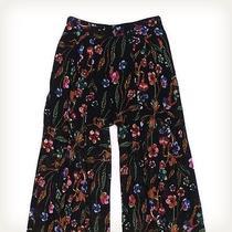 Nicole Miller Black Floral Wide Leg Pants Trouser & Wide Leg Photo