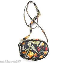 Nicole Miller Black Orange Kitchen Small Crossbody Bag Purse Handbag Designer Photo