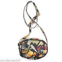 Nicole Miller Black Orange Kitchen Small Crossbody Bag Purse Handbag Designer Photo