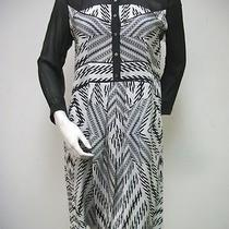 Nicole Miller Black White Piano Forte Washed Crepe Dress Sz M Bl0472 New Nwt Photo