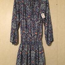 Nicole Miller Blue Paisley Dress Size 6 Brand New 12 Photo