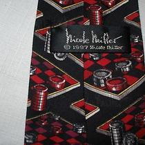 Nicole Miller Checkers Game Board Tie Mens 58