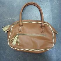 Nicole Miller Collection Brown Leather Handbag  Photo