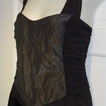 Nicole Miller Collection Silk-Taffeta Top - L Photo