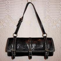 Nicole Miller Collection Small Leather Purse - Black  Photo